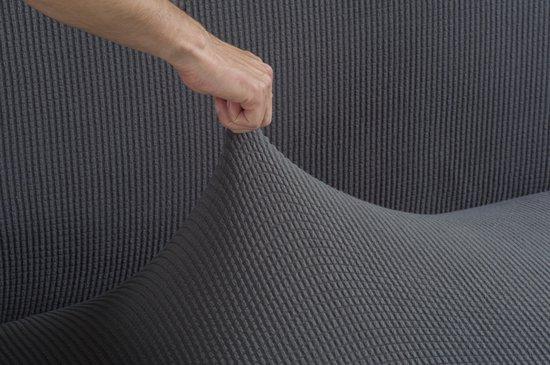 Tural Grijs stretch bankhoes Tweezits (130-160 cm). 2 zitsbanken - diverse kleuren en maten