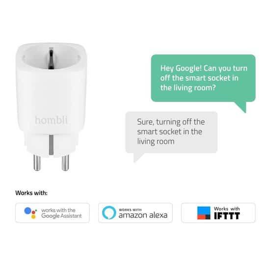 3x Hombli Slimme Stekker – WiFi  – Energiemeter via mobiele app