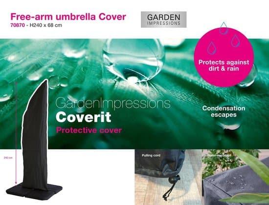 Garden Impressions - Coverit - free-arm - Parasolhoes -  240x68
