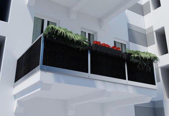 Green-lab Luxe balkondoek lichtgrijs (300x90 cm)