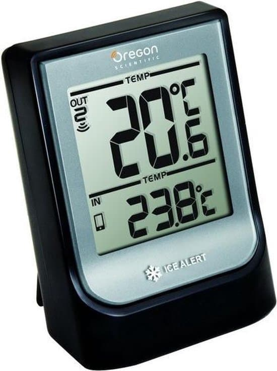 Oregon Scientific thermometer Os Celsius- binnen-en buitentemperatuur - Bluetoothverbinding- compact-zwart
