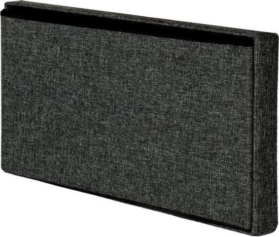 TecTake - Opvouwbare opbergkist zitkist 76 x 38 x 38 cm donkergrijs - 402235