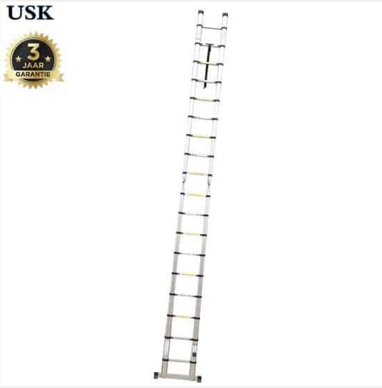 USK Telescoop Ladder - 18 treden - Met Stabilisatievoet