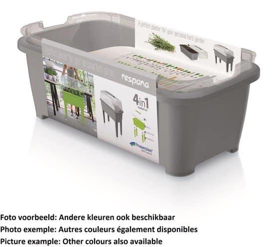 Moestuinbak Kweektafel Respana Planter High Set 77x39x82cm LIME Prosperplast