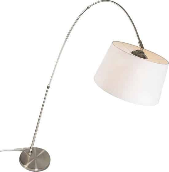 QAZQA Arc Eco - Staande booglamp - 1 lichts - 1200 mm - wit