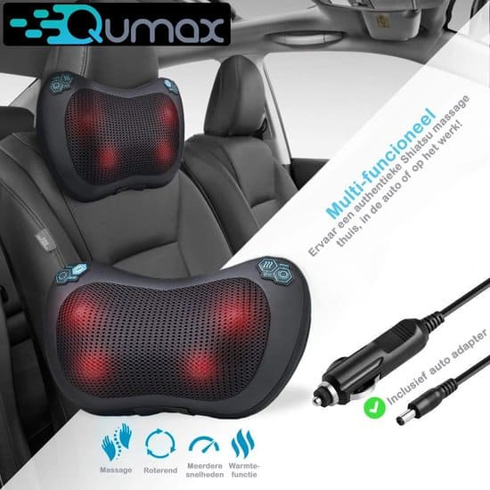 Qumax - Massagekussen -  Shiatsu Massage