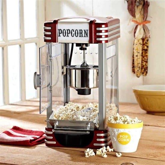 Retro Popcornmachine Deluxe - Popcornmaker - 30 x 25 x 50 cm