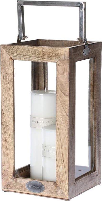 Riverdale Windlicht Rowan - brown - 36cm - lantaarn - bruin - hout