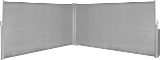 Uitschuifbaar zonnescherm 160x600 cm grijs